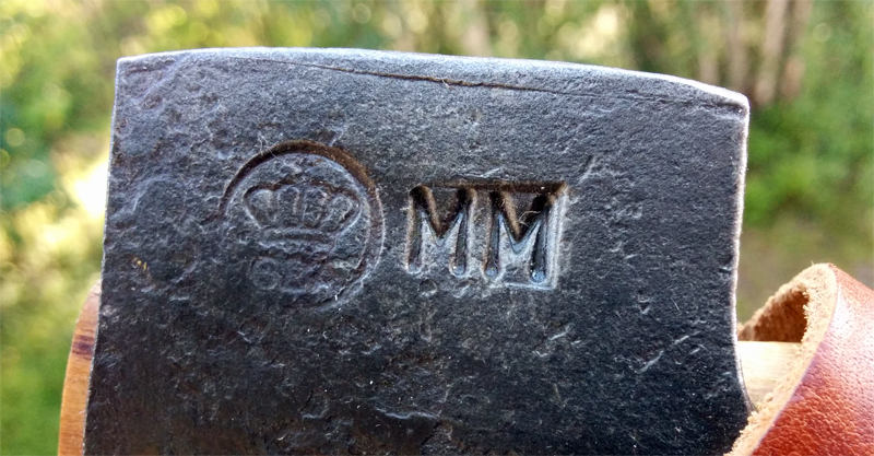 Initials on my axe head