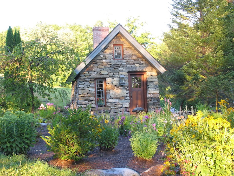 Beautiful home inspired by thoreau s cabin built from Stone cottage kit homes