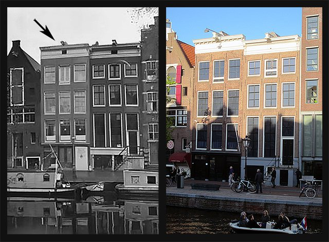 Anne Frank House then and now
