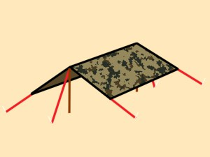 Preppers-Will-Dining-Fly-tarp-shelter