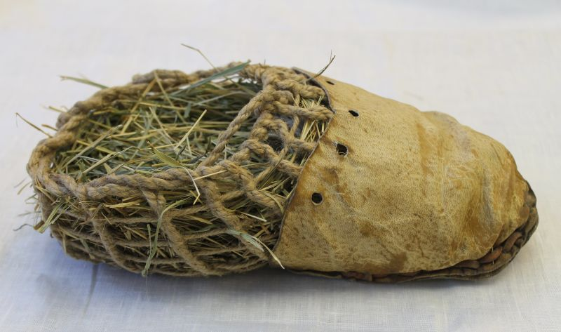 A replica of Otzi's shoe (credit: Josef Chlachula/CC BY-SA 3.0)