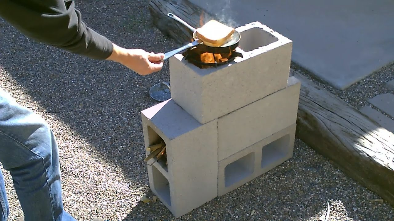 "How To Build A Simple ""4 Block"" Rocket Stove For Only $5.16"