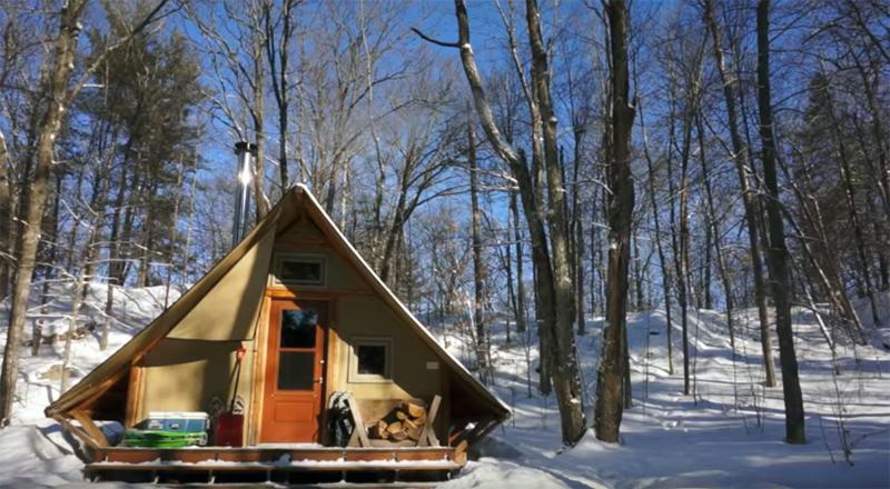 4 Season Off Grid Prospector Style Tent A Tiny House